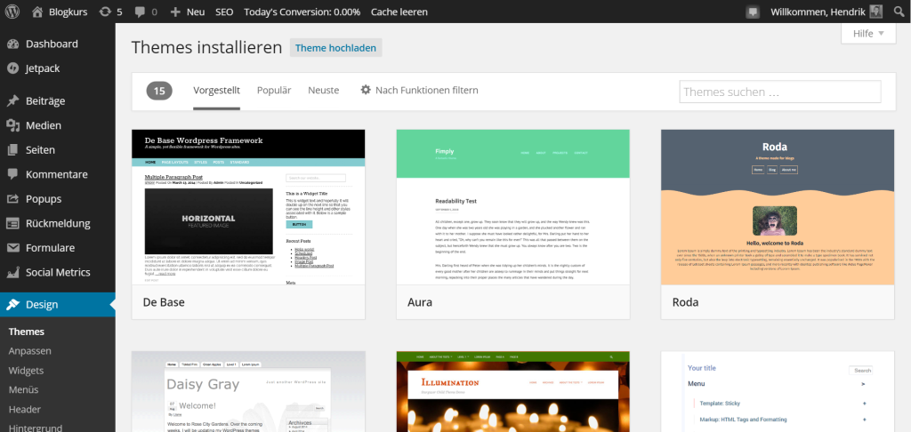 wordpress theme katalog